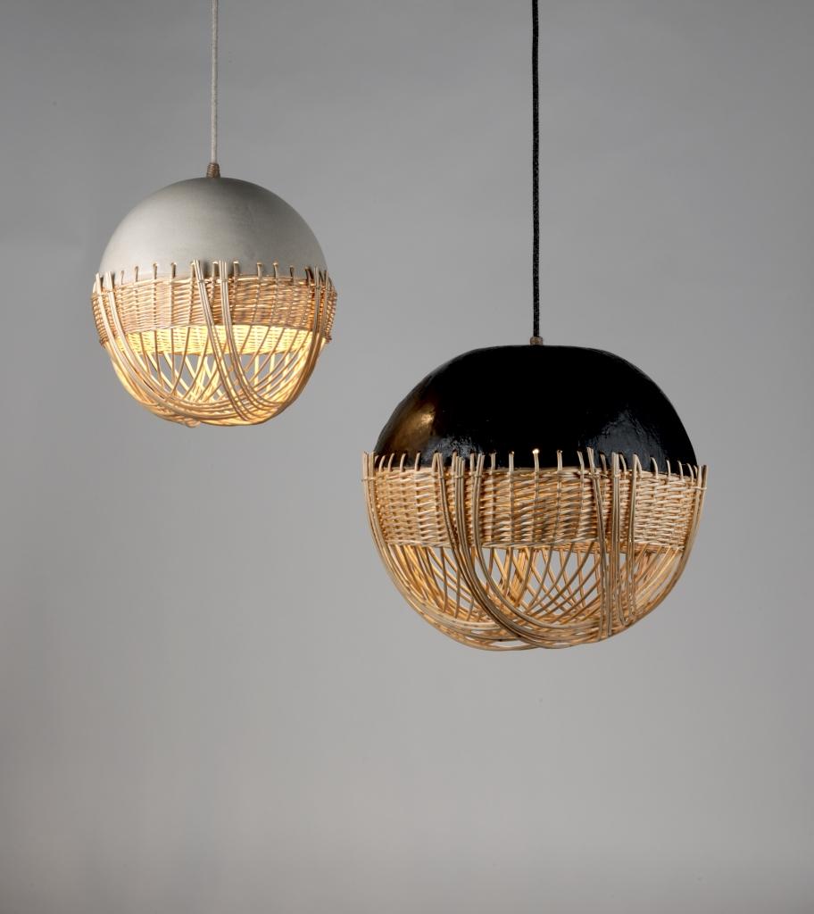 Atelier Brins de Malice - Vannerie d'Art - Luminaires Kyoto - Argile et Osier