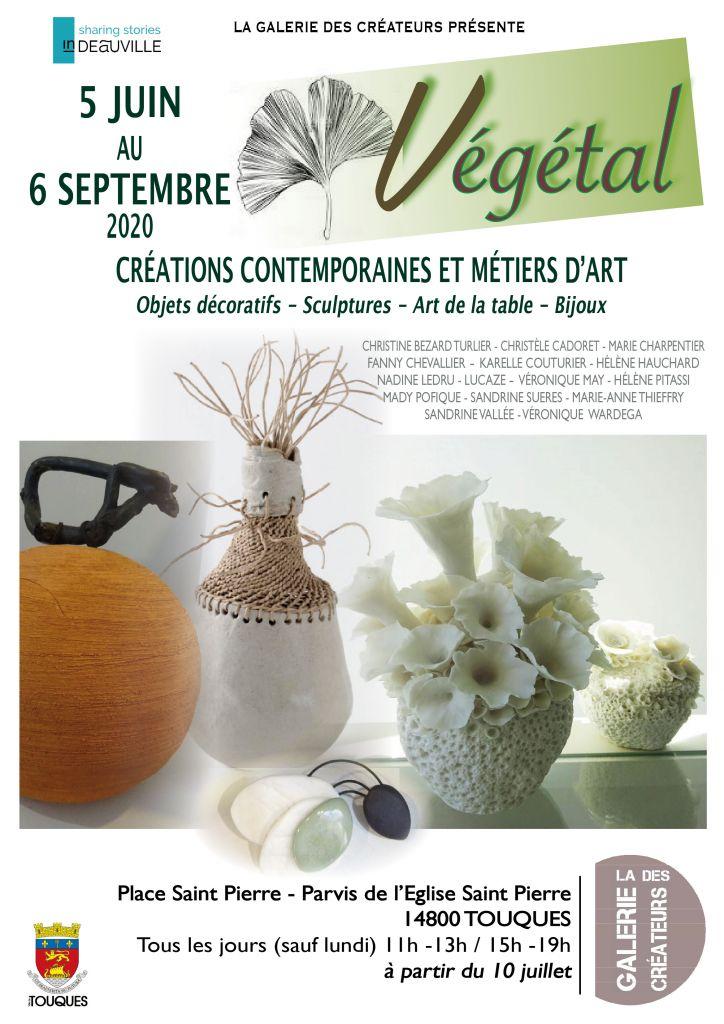 Aaffiche Exposition Végétal - Galerie Touques - Vannerie Osier