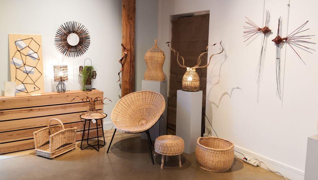 Exposition de vannerie - Atelier Brins de Malice - Maison de la Forêt