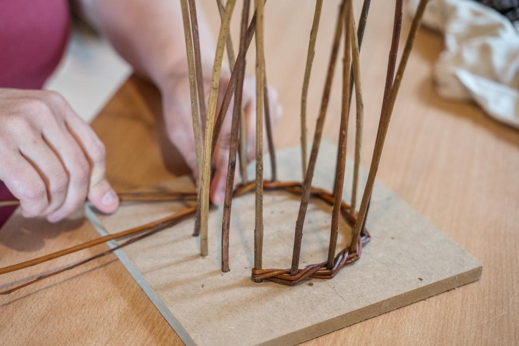 Atelier Brins de Malice - stage - vannerie -mangeoire
