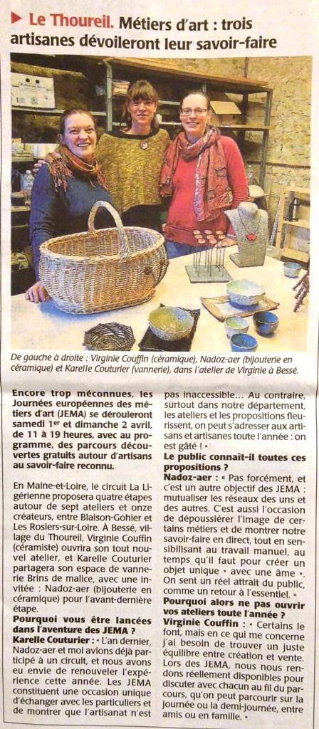 Atelier Brins de Malice - vannerie - Article JEMA