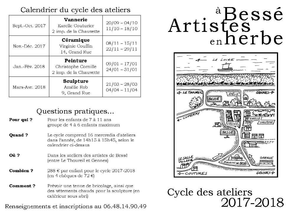 Ateliers vannerie pour enfants - Artistes en Herbe à Bessé