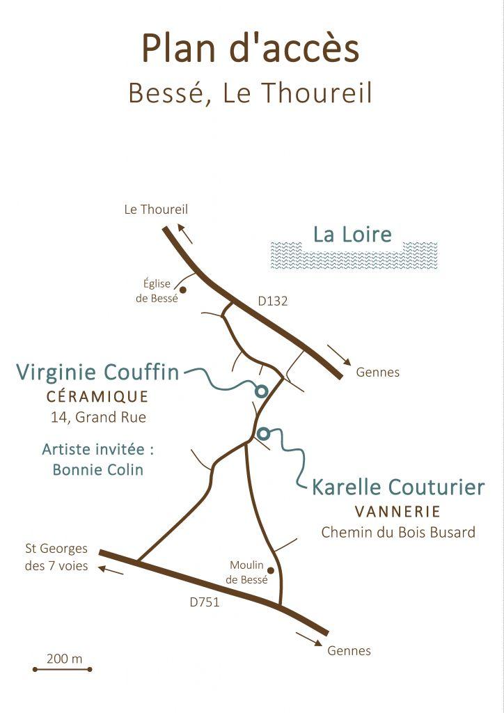 Plan accès Atelier Brins de Malice - vannerie d'art
