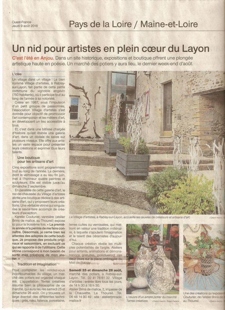 Atelier Brins de Malice - vannerie d'art expose à Rablay-sur-Layon
