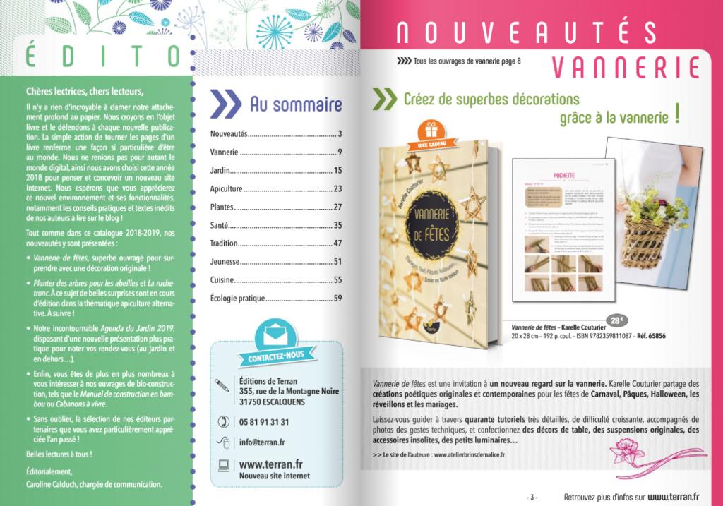 Presentation Vannerie de fêtes - Editions de Terran